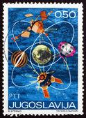Poštovní známka jugoslávie 1971 satelity — Stock fotografie