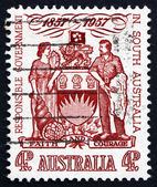 Postage stamp Australia 1957 South Australia Coat of Arms — Stock Photo
