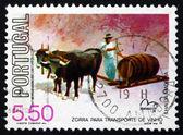 Slitta di francobollo Portogallo 1979 vino — Foto Stock