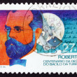 Postage stamp Portugal 1987 Robert Koch - Stock Photo