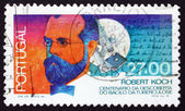 Postage stamp Portugal 1987 Robert Koch — Stock Photo