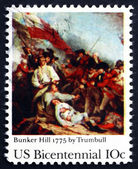 Postage stamp USA 1975 Battle of Bunker Hill — Stock Photo