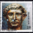 Stock Photo: Postage stamp GB 1993 Bronze bust of Hadrian