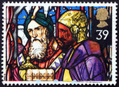 Postage stamp GB 1992 Kings offering frankincense and myrrh — Stock Photo
