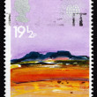 Postage stamp GB 1983 Desert, by Donald Hamilton Fraser - Stock Photo