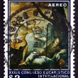 Postage stamp Colombia 1968 The Dream of the Prophet Elias — Stock Photo