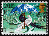 Postage stamp GB 1983 Birds under umbrella — Stock Photo