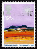 Postage stamp GB 1983 Desert, by Donald Hamilton Fraser — Stock Photo