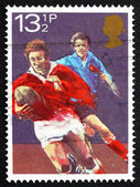 Postage stamp GB 1983 Rugby football — Stock Photo
