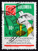 Postage stamp Colombia 1968 The Eucharist — Stock Photo