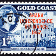 Postage stamp Ghana 1957 Ghana Independence, Christiansborg Cast — Stock Photo