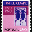 Postage stamp Portugal 1972 Window, Pinhel Church — Stock Photo