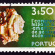 Postage stamp Portugal 1971 Beryllium, Mineral - Stock Photo