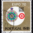 Postage stamp Portugal 1970 Compass Rose and EXPO Emblem — Stock Photo