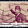 Postage stamp Tunisia 1975 Habib Bourguiba Arriving at La Goulet — Stock Photo