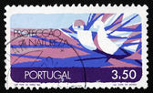 Postage stamp Portugal 1971 Nature Conservation, Air — Stock Photo