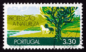 Postage stamp Portugal 1971 Nature Conservation, Earth — Stock Photo