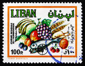 Postage stamp Lebanon 1982 Produce, World Food Day — Stock Photo