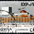 Royalty-Free Stock Photo: Postage stamp Spain 1992 EXPO \'92, Seville