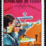Постер, плакат: Postage stamp Chad 1969 Bernd Klinger Shooter