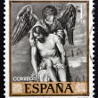 Postage stamp Spain 1969 Jesus and Angel by Alonso Cano — Stock Photo