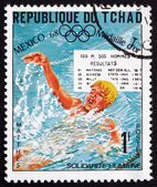 Postage stamp Chad 1975 Roland Matthes, swimmer — Stock Photo