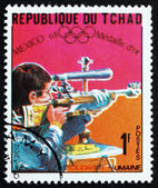 Postage stamp Chad 1969 Bernd Klinger, Shooter — Stock Photo