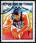 Frimärke Tchad 1969 randy Matsons, kulstötning — Stockfoto