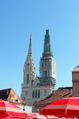 Towers of Zagreb Cathedral — Stockfoto