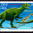 Stock Photo: Postage stamp France 2000 Allosaurus, Extinct Dinosaur