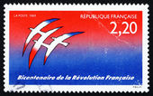 Postage stamp France 1989 French Revolution, Bicentennial — Stock Photo