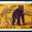 Postage stamp Ajman 1969 Brown Bear, Ursus Arctos, Animal — Stock Photo