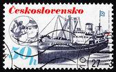 Postage stamp Czechoslovakia 1989 Ship Republika, Shipping Indus — Stock fotografie