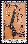 Posta pulu çekoslovakya 1966 tomahawk, hint silah — Stok fotoğraf