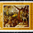 Stock Photo: Postage stamp Bulgari1985 Revolt 1185, by G. Bogdanov