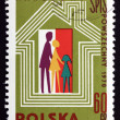 Postage stamp Poland 1970 Polish National Census, 1970 — Stock Photo
