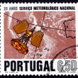 Postage stamp Portugal 1971 Satellite and Aerial Map — Stock Photo