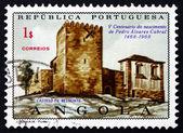 Postage stamp Portuguese Angola 1970 Belmonte Castle — Stock Photo
