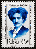 Postage stamp Poland 1984 Ignacy Jan Paderewski, Pianist — Stock Photo