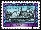 Postage stamp Poland 1972 Warsaw Royal Castle, 1656 — Stock Photo