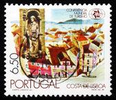 切手ポルトガル 1980年セントビン セント及び古いリスボン — ストック写真