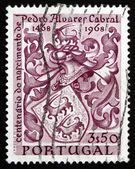 Postage stamp Portugal 1969 Cabral's Coat of Arms, Navigator — Stock Photo