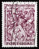 Armoiries de timbre-poste portugal 1969 cabral, navigator — Photo