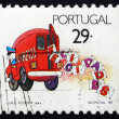 Postage stamp Portugal 1989 Truck with Letters, Congratulations — Stock Photo