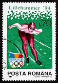 Postage stamp Romania 1994 Speed Skating — Stock Photo