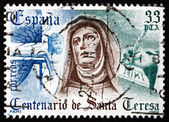 Postage stamp Spain 1982 St. Teresa of Avila — 图库照片