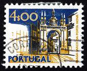 Postage stamp Portugal 1974 New Gate, Braga — Stock Photo