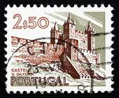 Poštovní známka portugal 1973 hrad, vila da feira — Stock fotografie