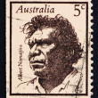 Stock Photo: Postage stamp Australi1968 Albert Namatjira, Aborigine, Artist