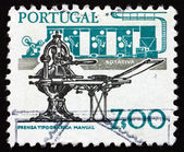Postage stamp Portugal 1978 Printing, Old and New — Stock Photo